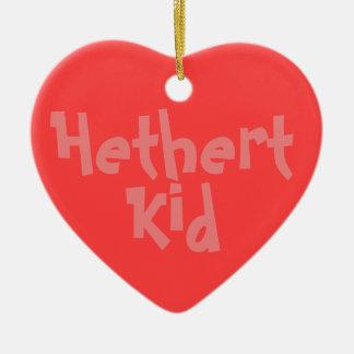 """Ornamento De Cerâmica De """"ornamento cerâmico do 2-Tom do miúdo Hethert"""""""