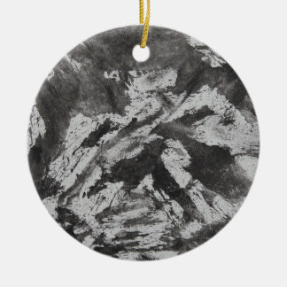 Ornamento De Cerâmica De tinta preta no fundo branco #2