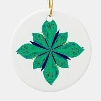 Ornamento De Cerâmica Deco verde de Ethno da mandala