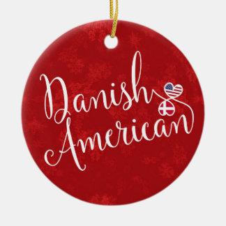 Ornamento De Cerâmica Decoração americana dinamarquesa do feriado das