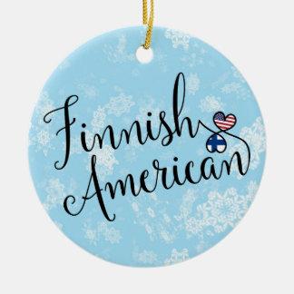 Ornamento De Cerâmica Decoração americana finlandesa do feriado das