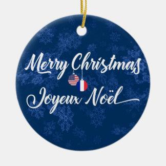 Ornamento De Cerâmica Decoração americana francesa do feriado, Joyeux