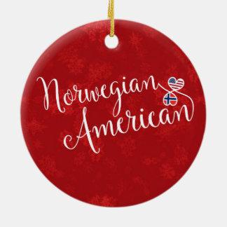 Ornamento De Cerâmica Decoração americana norueguesa do feriado das