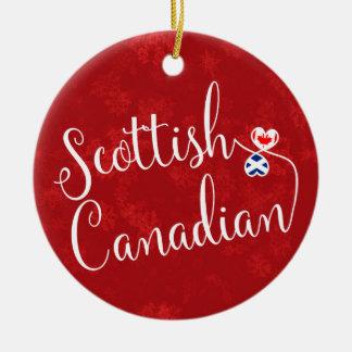 Ornamento De Cerâmica Decoração canadense escocesa do feriado das