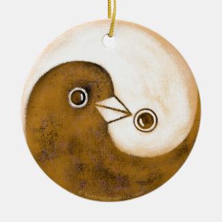 Ornamento De Cerâmica Decoração cerâmica das pombas de paz de Yin Yang
