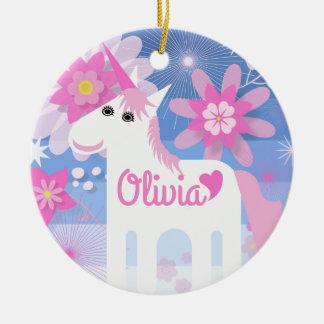 Ornamento De Cerâmica Decoração cor-de-rosa bonito Customisable do