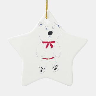 Ornamento De Cerâmica Decoração da árvore de Natal da estrela de Barry