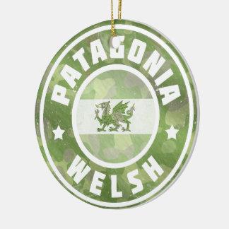 Ornamento De Cerâmica Decoração da bandeira de Galês Camo do Patagonia