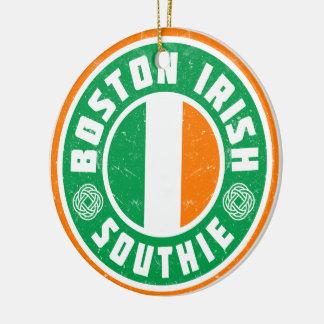 Ornamento De Cerâmica Decoração de Southie do irlandês de Boston