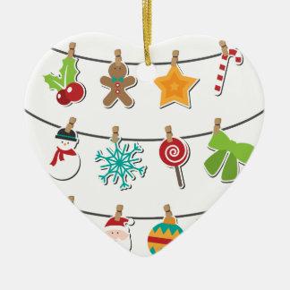 Ornamento De Cerâmica Decoração de suspensão do Xmas do Natal bonito