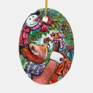 Ornamento De Cerâmica Decoração do feriado