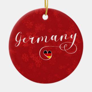 Ornamento De Cerâmica Decoração do feriado de Alemanha do coração