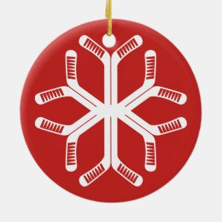 Ornamento De Cerâmica Decoração do feriado do floco de neve das varas de