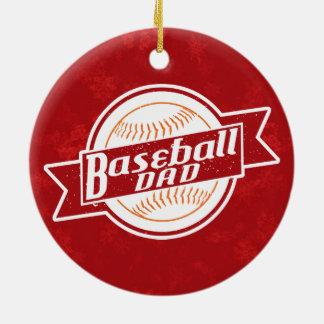 Ornamento De Cerâmica Decoração do feriado do pai do basebol
