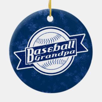 Ornamento De Cerâmica Decoração do feriado do vovô do basebol
