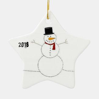 Ornamento De Cerâmica Decoração do Natal com boneco de neve (2018)