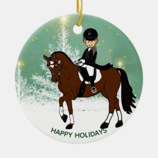 Ornamento De Cerâmica Decoração do Xmas do cavaleiro do cavalo do