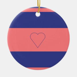 Ornamento De Cerâmica decoração moderna do Natal do coração