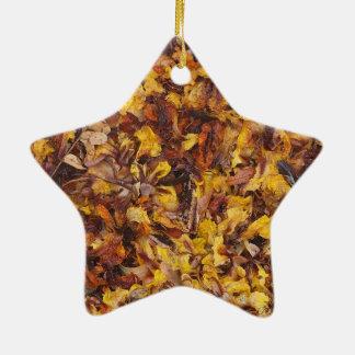 Ornamento De Cerâmica Decoração natural da estrela da maca da folha