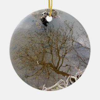 """Ornamento De Cerâmica Decoração """"Reflexos """""""
