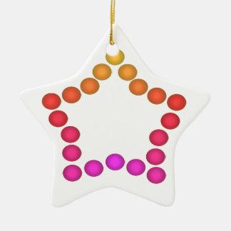 Ornamento De Cerâmica Decorações da árvore de Natal do feriado dos