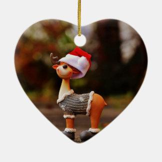 Ornamento De Cerâmica Decorações da rena - rena do Natal