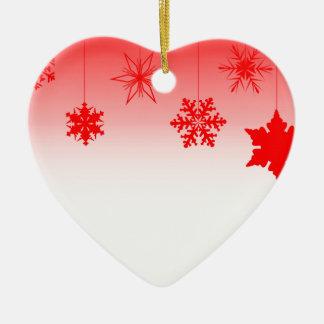 Ornamento De Cerâmica Decorações vermelhas do Natal