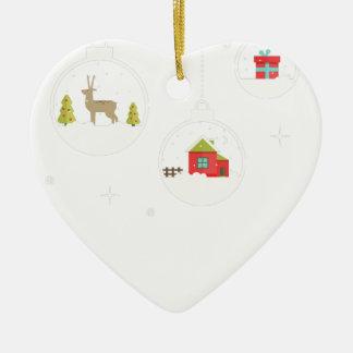 Ornamento De Cerâmica decorativo-Natal-bola-suspensão