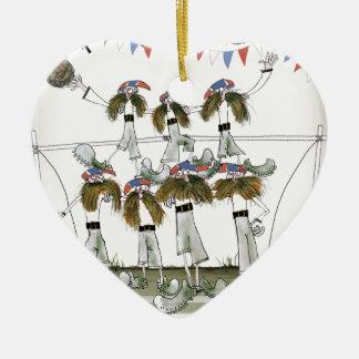 Ornamento De Cerâmica defensores do futebol de Inglaterra