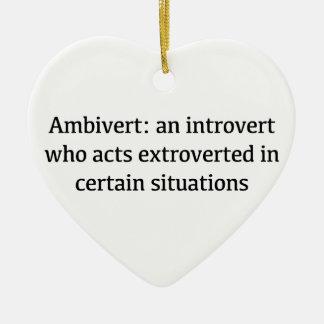 Ornamento De Cerâmica Definição de Ambivert