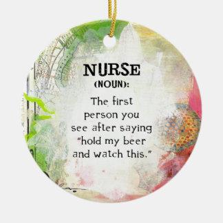 Ornamento De Cerâmica Definição de uma enfermeira
