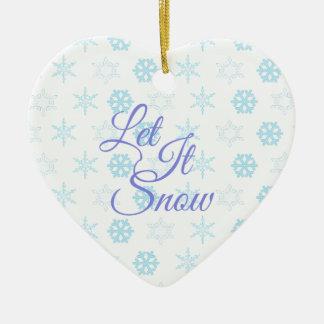 Ornamento De Cerâmica Deixais lhe seja Natal nevado