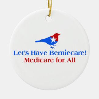 Ornamento De Cerâmica Deixe-nos ter Berniecare - Medicare para tudo