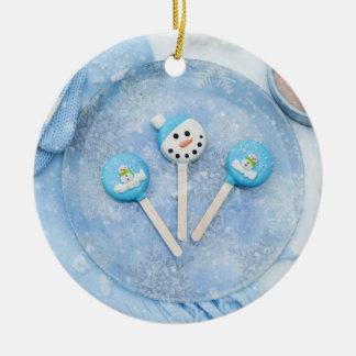 Ornamento De Cerâmica Deleites e presentes do tempo de inverno
