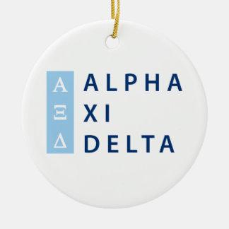 Ornamento De Cerâmica Delta do alfa Xi empilhado
