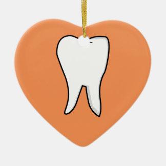 Ornamento De Cerâmica Dente branco saudável