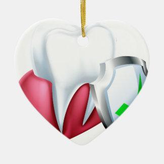Ornamento De Cerâmica Dente e goma do protetor