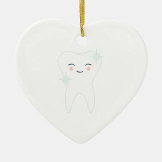 Ornamento De Cerâmica Dente feliz