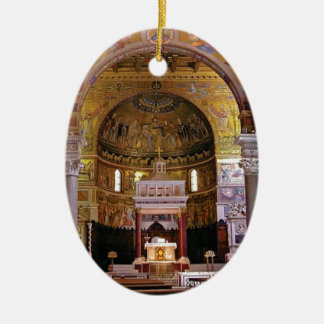 Ornamento De Cerâmica Dentro da igreja yeah