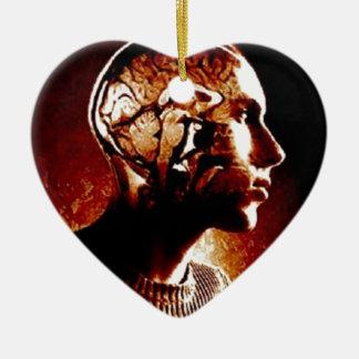 Ornamento De Cerâmica Dentro de minha cabeça, mostrando a atividade de