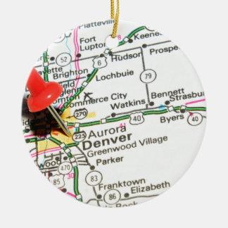 Ornamento De Cerâmica Denver, Colorado