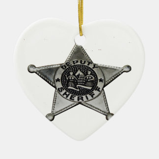 Ornamento De Cerâmica Deputado xerife