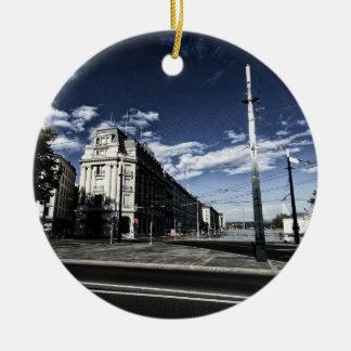Ornamento De Cerâmica DES Moulins da rua em Genebra
