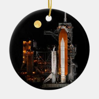 Ornamento De Cerâmica Descoberta e lua do vaivém espacial