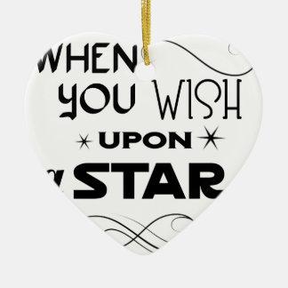 Ornamento De Cerâmica desejo em cima de uma estrela