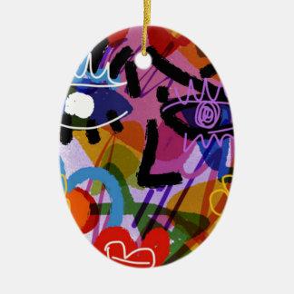 Ornamento De Cerâmica Desenho abstrato de Digitas da cara da modificação