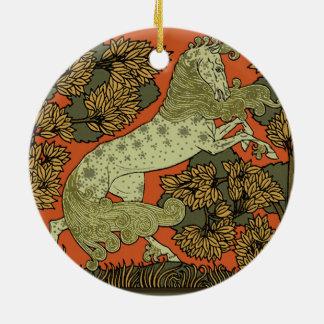 Ornamento De Cerâmica Desenho antigo do cavalo