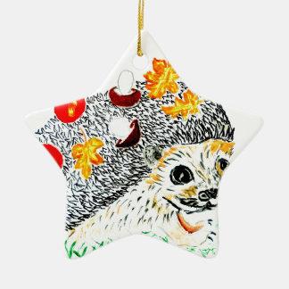 Ornamento De Cerâmica Desenho bonito do ouriço