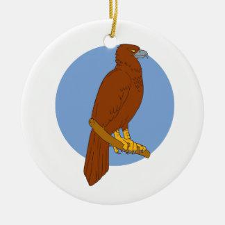 Ornamento De Cerâmica Desenho Cunha-atado australiano da vara de Eagle