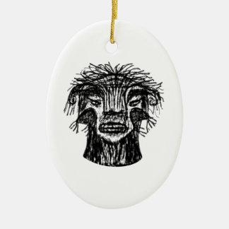 Ornamento De Cerâmica Desenho da cabeça do monstro da fantasia